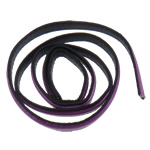Leather Cord, purple, 10x2mm, Length:Approx 20 m, 20Strands/Bag, Sold By Bag