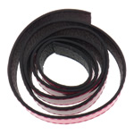 Leather Cord, pink, 20x2mm, Length:Approx 20 m, 20Strands/Bag, Sold By Bag