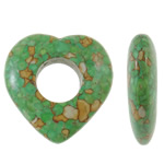 Turquoise Beads, 39.50x40x10mm, Hole:Approx 16mm, 50PCs/Bag, Sold by Bag