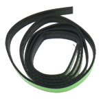 Leather Cord, fluorescent green, 12x2mm, Length:Approx 20 m, 20Strands/Bag, Sold By Bag