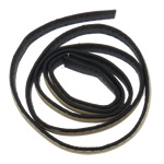 Leather Cord, ivory, 10x2mm, Length:Approx 20 m, 20Strands/Bag, Sold By Bag
