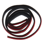 Leather Cord, red, 10x2mm, Length:Approx 20 m, 20Strands/Bag, Sold By Bag