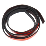 Leather Cord, reddish orange, 10x2mm, Length:Approx 20 m, 20Strands/Bag, Sold By Bag