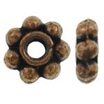 Zinc Alloy Jewelry Spacer, Flower, antique copper color plated, nickel, lead & cadmium free, 6x2mm, Hole:Approx 1.5mm, approx 5000PCs/KG, Sold by KG