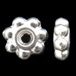 Zinc Alloy Jewelry Spacer, Flower, silver color plated, nickel, lead & cadmium free, 5x1.5mm, Hole:Approx 1mm, Sold by KG