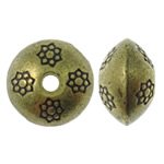 Zinc Alloy Jewelry Beads, Rondelle, antique bronze color plated, nickel, lead & cadmium free, 10x6.5mm, Hole:Approx 2mm, approx 450PCs/KG, Sold by KG