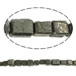 Gemstone Jewelry Beads, chalcopyrite, Rectangle, natural, 12mm, Hole:Approx 1.5mm, 10Strands/Lot, Sold by Lot