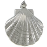 Stainless Steel Jewelry Pendants, 316 Stainless Steel, Shell, original color, 32x37x14.50mm, Hole:Approx 3.5x8.8mm, 15PCs/Lot, Sold By Lot