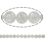 Round Crystal Beads, Round, natural, crackle, Crystal, 6mm, Hole:Approx 1.5mm, Length:15.7 Inch, 20Strands/Lot, Sold by Lot