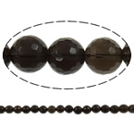 Quartz Jewelry Beads, smoky quartz, Round, faceted, 14mm, Hole:Approx 1.5mm, Length:15.7 Inch, 20Strands/Lot, Sold by Lot