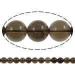 Quartz Jewelry Beads, smoky quartz, Round, natural, 10mm, Hole:Approx 1.5mm, Length:15.7 Inch, 20Strands/Lot, Sold by Lot
