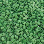 2 Cut Glass Seed Beads, Tube, solid color, green, 2x2mm, Hole:Approx 1mm, approx 30000PCs/Bag, Sold by Bag