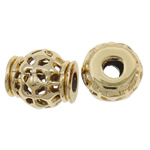 Zinc Alloy European Beads, Drum, gold color plated, without troll, nickel, lead & cadmium free, 13x14mm, Hole:Approx 4mm, approx 100PCs/Bag, Sold by Bag