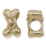 Zinc Alloy European Beads, gold color plated, without troll, nickel, lead & cadmium free, 12x8x8mm, Hole:Approx 4.5mm, approx 100PCs/Bag, Sold by Bag