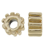 Zinc Alloy Jewelry Beads, Rondelle, gold color plated, nickel, lead & cadmium free, 8.5x5mm, Hole:Approx 3.5mm, approx 200PCs/Bag, Sold by Bag