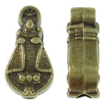 Zinc Alloy Jewelry Beads, antique bronze color plated, nickel, lead & cadmium free, 7.50x14x5mm, Hole:Approx 2mm, approx 710PCs/KG, Sold by KG