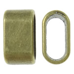 Zinc Alloy Linking Ring, Oval, antique bronze color plated, nickel, lead & cadmium free, 7x13x7mm, Hole:Approx 5x10.5mm, Approx 830PCs/KG, Sold By KG