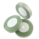 Sparkle Ribbon, light green, 19mm, Length:approx 1250 Yard, 50PCs/Lot, Sold by Lot