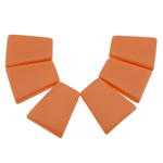 Turquoise Pendant, Trapezium, reddish orange, 21x25x5mm, Hole:Approx 1.2mm, 10Sets/Lot, Sold By Lot
