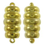 Brass Magnetic Clasp, Column, gold color plated, single-strand, nickel, lead & cadmium free, 8x18mm, Hole:Approx 1mm, 10PCs/Bag, Sold By Bag
