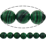 Natural Malachite Beads, Round, stripe, 6mm, Hole:Approx 1mm, Length:15.5 Inch, 10Strands/Lot, 67PCs/Strand, Sold By Lot
