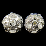 Hollow Brass Beads, 10mm, Hole:Approx 2.5mm, 10PCs/Bag, Sold by Bag