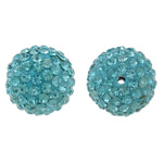 Rhinestone Clay Pave Beads, 14mm, Hole:Approx 1.5mm, 10PCs/Bag, Sold by Bag