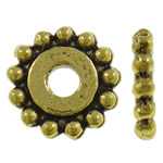 Zinc Alloy Spacer Beads Flower antique gold color plated nickel lead   cadmium free 11.5x2mm Hole:Approx 3mm Approx 995PCs/KG