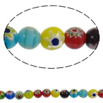 Glass Chevron Beads Round handmade mixed colors 10mm Hole:Approx 1mm Length:Approx 15.3 Inch 10Strands/Lot