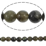 Natural Labradorite Beads, Round, 12mm, Hole:Approx 1.5mm, Length:15.5 Inch, 5Strands/Lot, Sold By Lot
