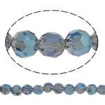 Koraliki z kryształów CRYSTALLIZED™ego, CRYSTALLIZED™, Koło, Platerowane kolorem, różnej wielkości do wyboru & fasetowany, otwór:około 1mm, sprzedawane na około 15.5 cal Strand