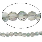 Koraliki z kryształów CRYSTALLIZED™ego, CRYSTALLIZED™, Koło, Platerowane kolorem, fasetowany, 6mm, otwór:około 1mm, około 72komputery/Strand, sprzedawane na około 15.7 cal Strand