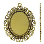 Zinc Alloy Pendant Cabochon Setting, Flat Oval, plated, more colors for choice, lead & cadmium free, 48x64x2mm, Hole:Approx 3mm, 20PCs/Bag, Sold By Bag