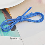 Velveteen Cord rope chain blue 3mm Length:Approx 1 m 100Strands/Lot