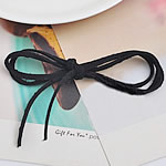 Velveteen Cord, rope chain, black, 3mm, Length:Approx 1 m, 100Strands/Lot, Sold By Lot