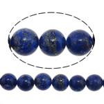 Koraliki Lapis Lazuli, Lapis lazuli naturalny, Koło, niebieski, 10mm, otwór:około 1.5mm, około 40komputery/Strand, sprzedawane na około 15.5 cal Strand