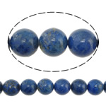 Natural Lapis Lazuli Beads, Round, blue, 10mm, Hole:Approx 1.5mm, Length:Approx 16 Inch, 2Strands/Lot, Approx 40PCs/Strand, Sold By Lot