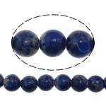 Koraliki Lapis Lazuli, Lapis lazuli naturalny, Koło, niebieski, 6mm, otwór:około 1mm, długość:około 16 cal, 5nici/wiele, około 73komputery/Strand, sprzedane przez wiele