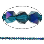 Imitation CRYSTALLIZED™ Element Crystal Beads, Polygon, half-plated, faceted, 6mm, Hole:Approx 1.5mm, 100PCs/Strand, Sold Per Approx 23.5 Inch Strand