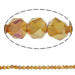 Imitation CRYSTALLIZED™ Element Crystal Beads, Polygon, half-plated, faceted, 6mm, Hole:Approx 1.5mm, Approx 100PCs/Strand, Sold Per Approx 23.5 Inch Strand
