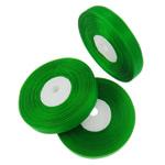 Organza Ribbon, green, 1.3cm, Length:2500 Yard, 50PCs/Lot, Sold By Lot