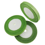 Sparkle Ribbon, green, 1cm, Length:1250 Yard, 50PCs/Lot, Sold By Lot