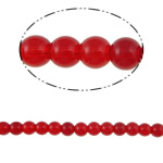 Round Crystal Beads, siam, 8mm, Hole:Approx 1.5mm, Length:12 Inch, 10Strands/Bag, Sold By Bag