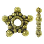 Zinc Alloy Spacer Beads Star antique gold color plated nickel lead   cadmium free 9x8.50x2mm Hole:Approx 2mm Approx 3330PCs/KG