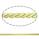 Brass Curb Chain gold color plated nickel lead   cadmium free 1.2x0.8mm Length:Approx 100 m