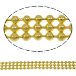 Brass Ball Chain, gold color plated, nickel, lead & cadmium free, 4.6x1.5mm, Length:Approx 100 m, Sold By PC