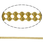 Brass Ball Chain, gold color plated, nickel, lead & cadmium free, 3.2x1.5mm, Length:Approx 100 m, Sold By PC