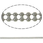 Brass Ball Chain, platinum color plated, nickel, lead & cadmium free, 3.2x1.5mm, Length:Approx 100 m, Sold By PC