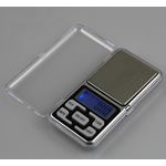 Digital Pocket Scale, Stainless Steel, with Silicone & Plastic, Telephone, original color, 120x60x20mm, Sold By PC