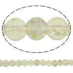 Crackle Glass Beads, Round, yellow cream, 6mm, Hole:Approx 1mm, Length:Approx 31.5 Inch, 10Strands/Bag, Sold By Bag